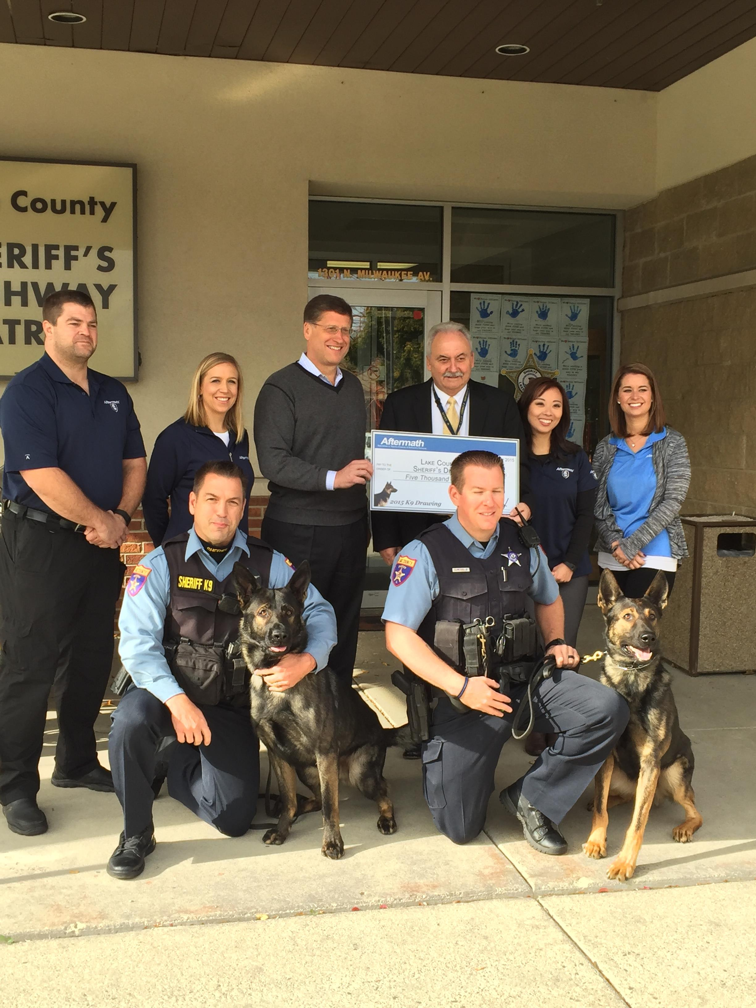 Aftermath Awards K9 Grant to Lake County Sheriff's Office - Aftermath