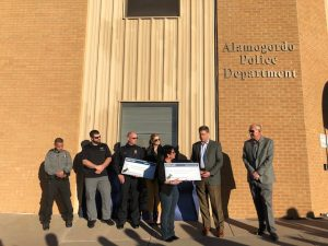 Check rewarded to Alamogordo Police Department.