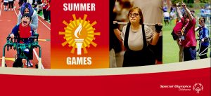 Oklahoma Summer Special Olympics photo collage and logo.