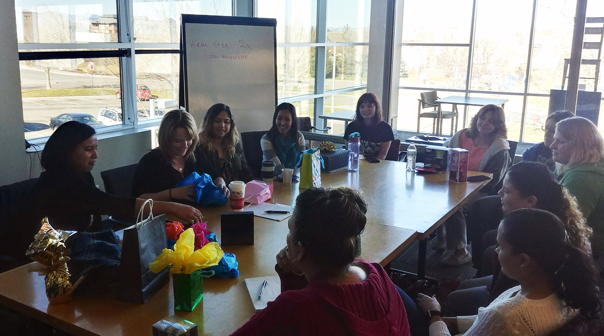 Group meeting in Victim Assistance Center in Colorado.