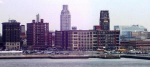 Camden New Jersey skyline.