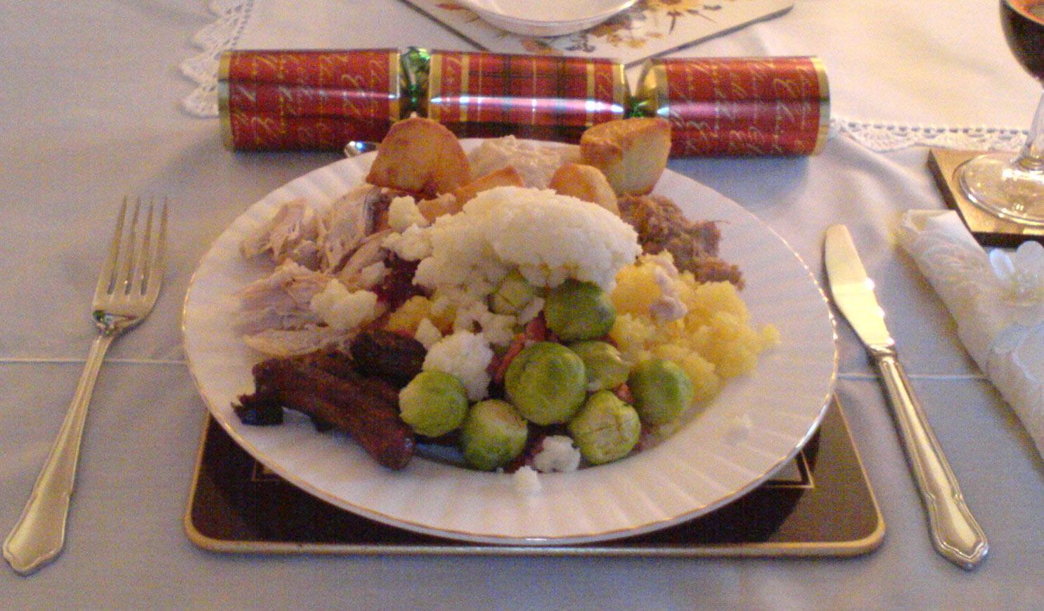 Christmas dinner.