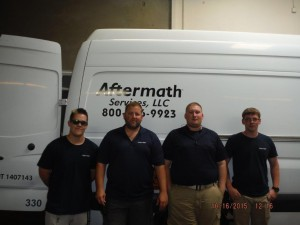 NorCal Aftermath team in front of Aftermath van.