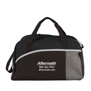 Aftermath black duffle bag.