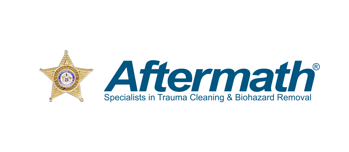 Aftermath: Specialists in trauma cleaning & biohazard removal logo.