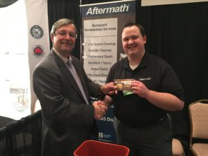 Mark Reinert of Wenban Funeral Home won a $50 gift card