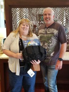 Winner of PPE kit at 2018 Georgia Association of Chiefs' of Police Conference.
