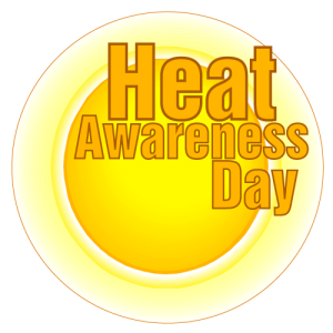 Heat Awareness Day logo.