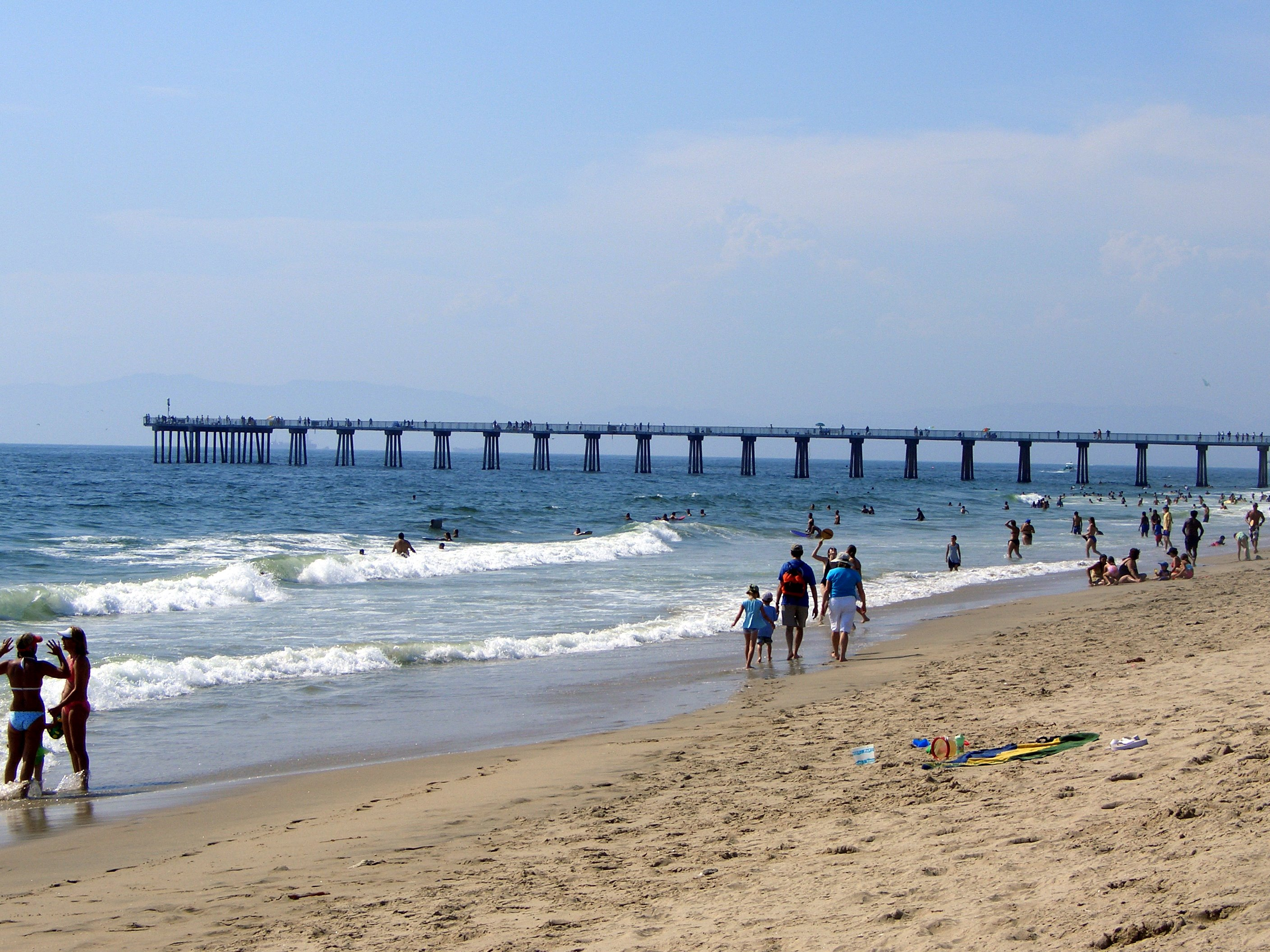 Hermosa beach on a summer day.