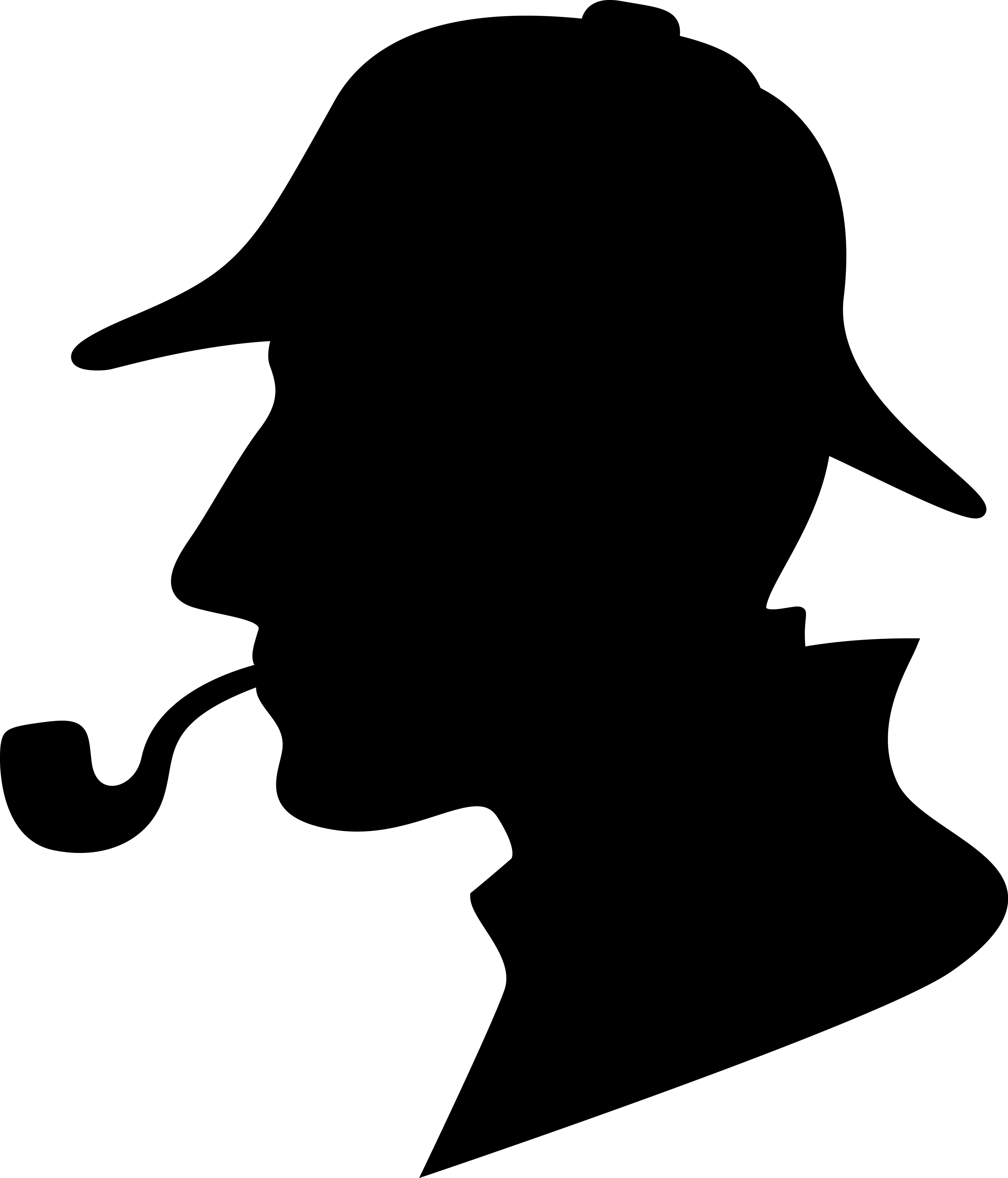 Profile of Sherlock Holmes.