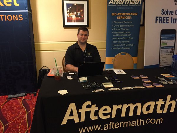 Tony from Aftermath at ILACP 2016.