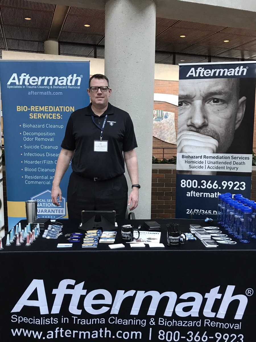 ILACP Aftermath booth.