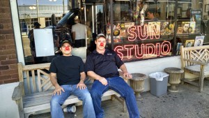 Aftermath Memphis team with red noses.