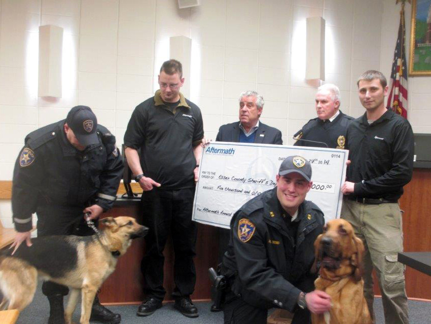 Illinois-based Aftermath Inc. Crime Scene Clean Up Presents Grant to Essex County Sheriff's Office for new K-9 Unit