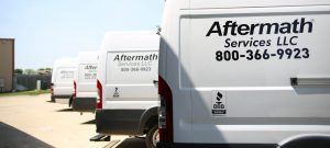 Aftermath Crime Scene Cleanup Vans in Illinois.