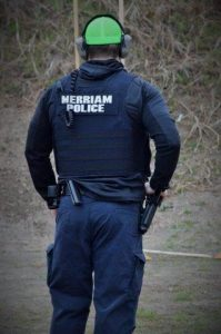 Member of Merriam Police at JCSO Shootout 2018