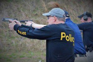 Police at JCSO Shootout 2018 taking aim at targets.