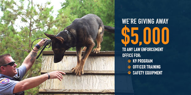 We're giving away $5000 to law enforcement for 2016.
