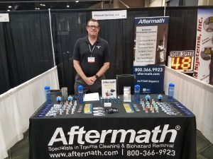 Aftermath booth at MSPCE Conference.