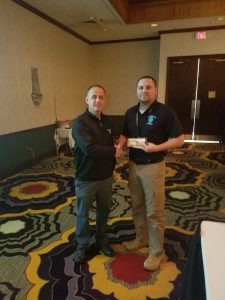 NCHIA Member and Hillsborough PD Sgt. Chelenza won a $50 gift card at the 2018 Spring Training Conference.