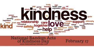 National Random Acts of Kindness Day.