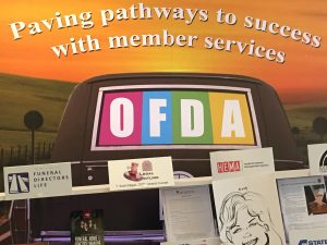 """Paving pathways to success with member services"" OFDA Banner."