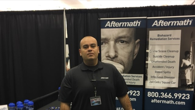 Aftermath booth at 140th Annual Sheriff's Assoc. of Texas Conf.