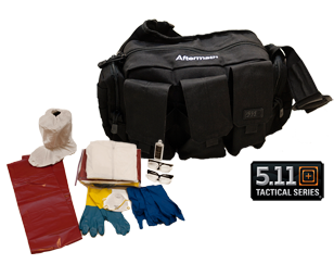 PPE tactical bag and contents of PPE kit.