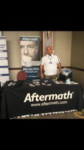 Aftermath booth. Visiting Southeastern Homicide Investigators Assoc. Conference.