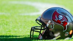 Buccaneers football helmet.