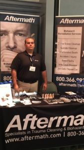 Aftermath booth at 2017 Texas Police Assoc. Conference.