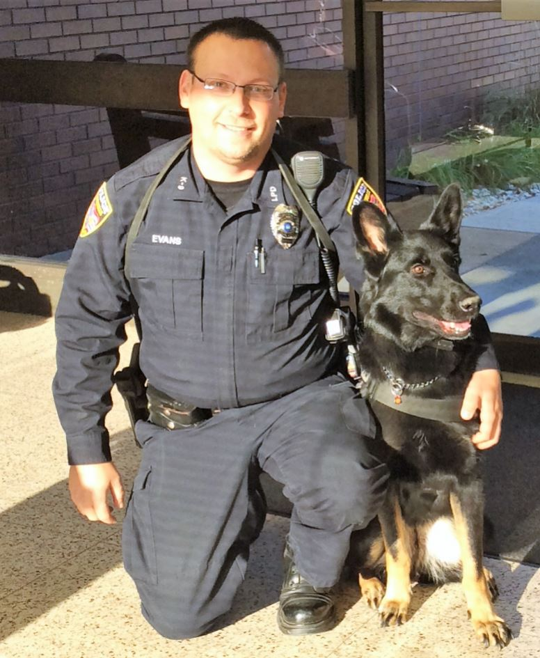 K9 Officer Una of the Larksville Police Department
