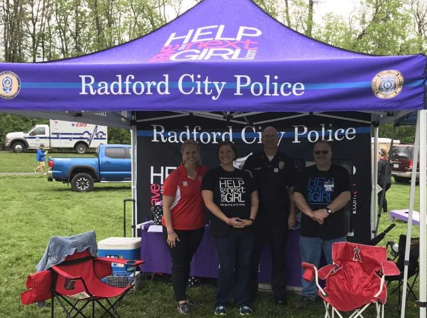 radfort city police tent and officers