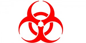 Biohazard remediation symbol.