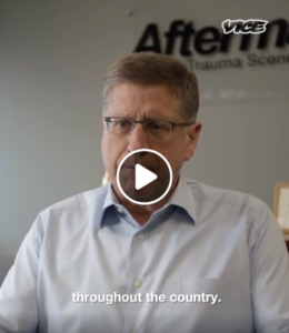 aftermath ceo doug berto giving an interview to VICE media