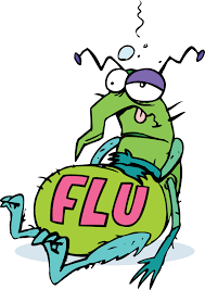 Cartoon image of the flu.