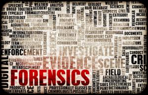 Forensic cleaning word collage.