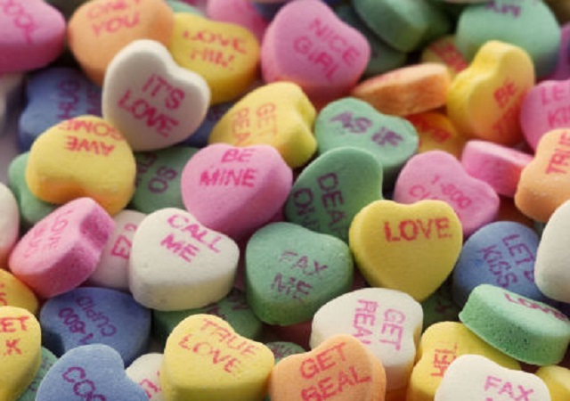 Collection of Valentine Candy Hearts