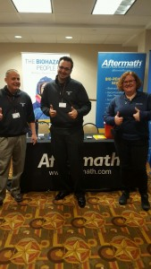Aftermath booth at 2016 HITX Police Training Conf.
