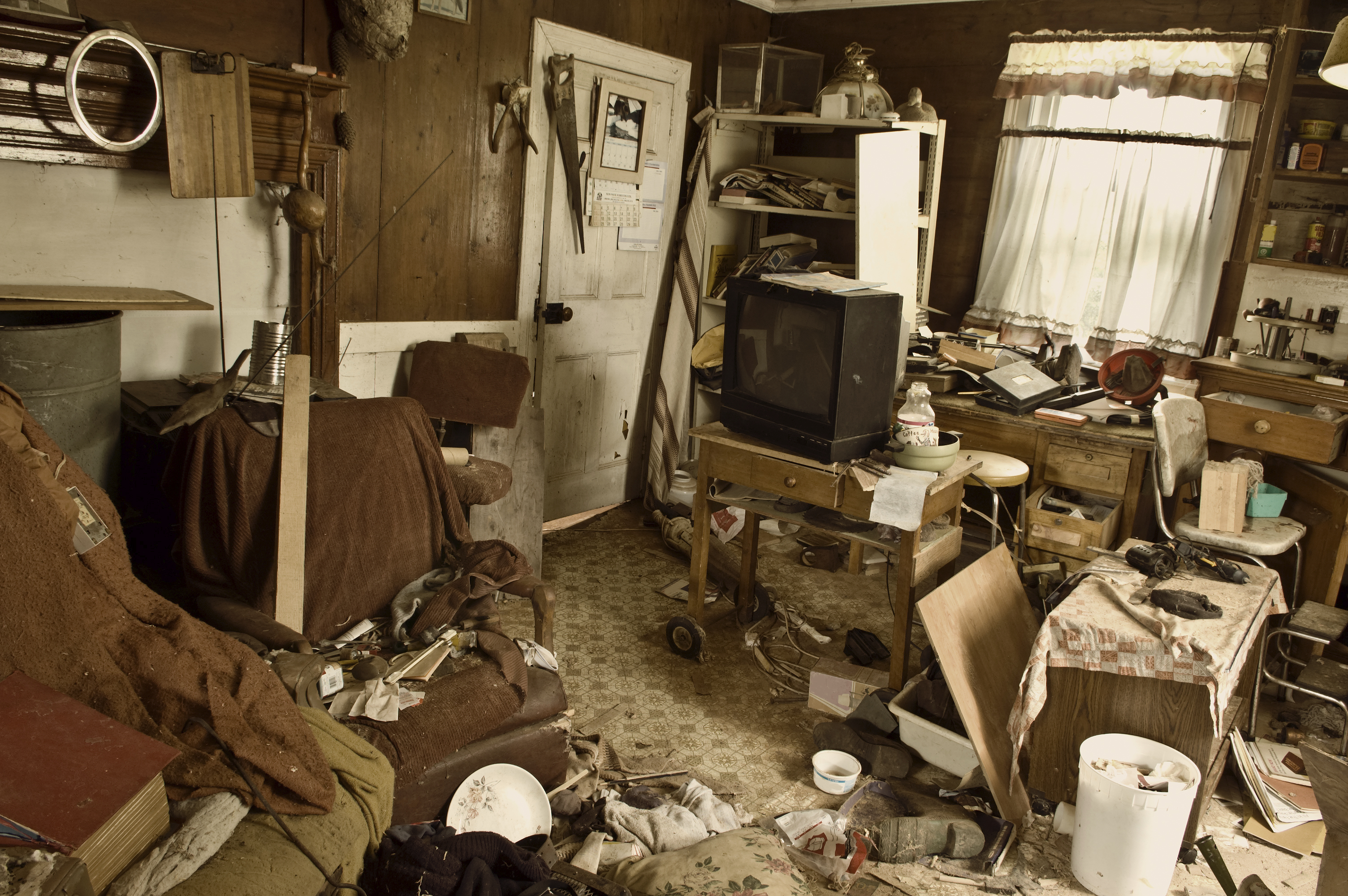 Inside a hoarders Boston home.