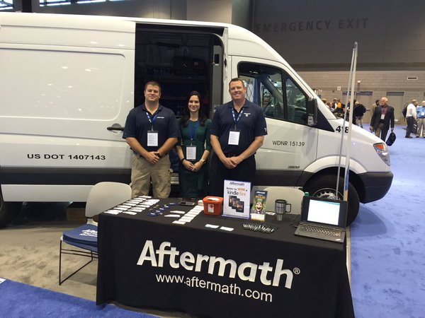 Aftermath booth and van at 2015 IACP Conference.