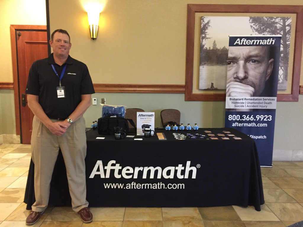 Aftermath booth for 2016 Oregon Homicide Inv. Conference.