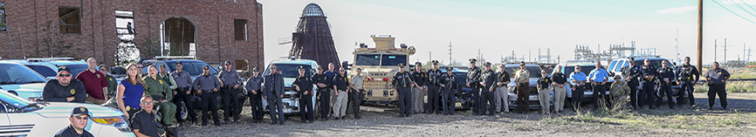 Panorama group shot of Otero County Law Enforcement