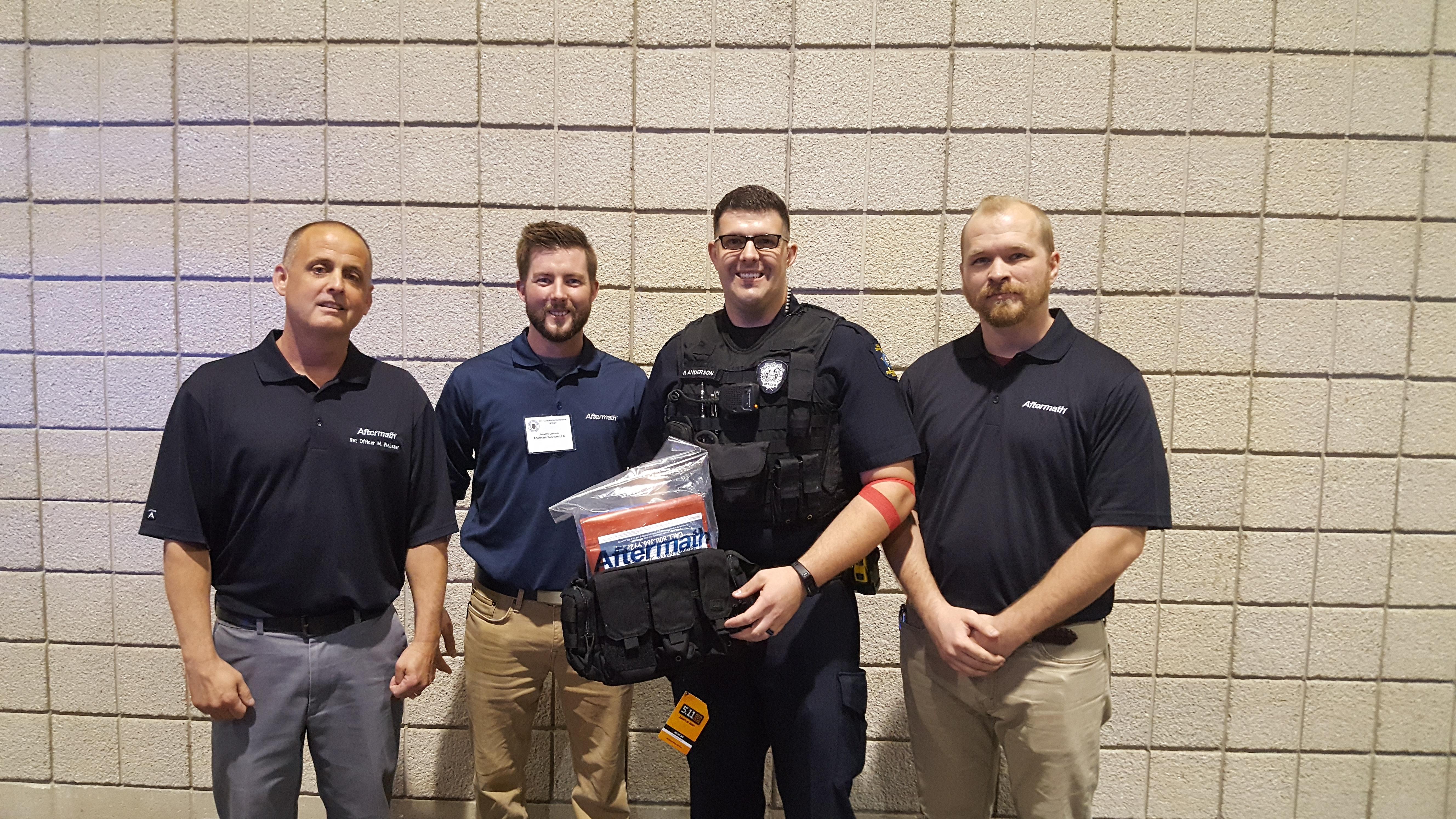 Overlandpark, KS Cops with PPE Kit.