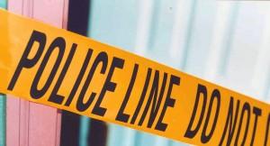Real estate biohazard cleanup and crime scene tape.