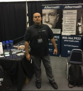 Aftermath booth at Oklahoma Assoc. of Chiefs' of Police Training & Exhibitor's Show.
