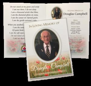 sample funeral program of an old man
