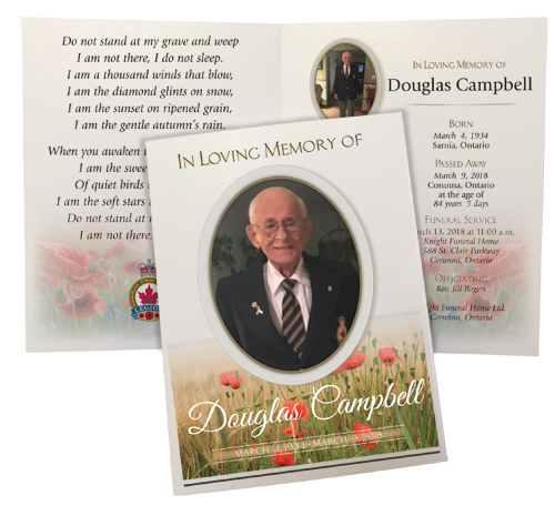 sample funeral program of an old man