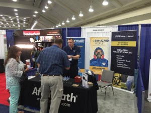 Steven from Aftermath at the 2015 National Sheriffs' Assoc. Conference.