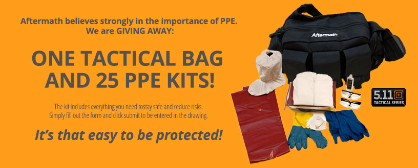 Tactical bag with PPE kit contents. It's that easy to be protected!
